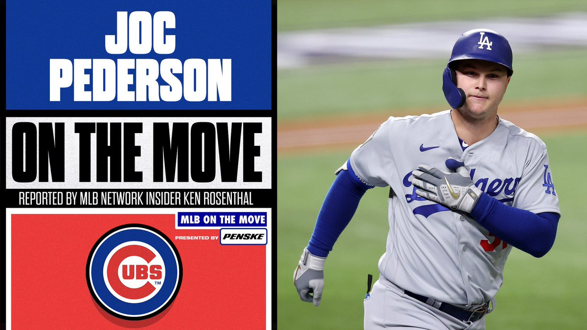 It's goin' down in Wrigleyvillle.  OF Joc Pederson has reportedly agreed to a 1-year, $7 million deal with the @Cubs, per @Ken_Rosenthal.