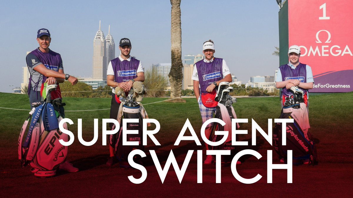 🏌️♂️Super Agent Switch🏌️♂️  @IanJamesPoulter 🔄 @terrymundy  @henrikstenson 🔄 @skonby  @robert1lefty 🔄 Iain Stoddart @MKaymer59 🔄 Philip Kaymer  What happens when the @EuropeanTour stars have to go on the bag for their agents! 🤣  Watch here:   #ODDC