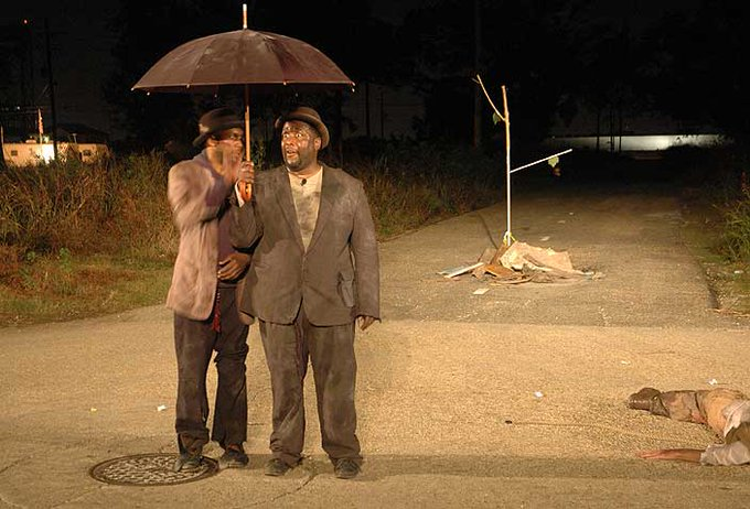 Paul Chan, Waiting for Godot in New Orleans (2007), staged on post-Katrina streets: ubu.com/film/chan_godo…