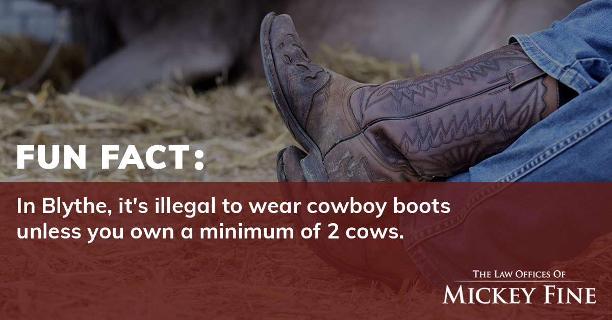 Who would be accidentally breaking this law if they went to Blythe? ✋  #FunFactFriday #FunFact #DidYouKnow #WeirdLaws