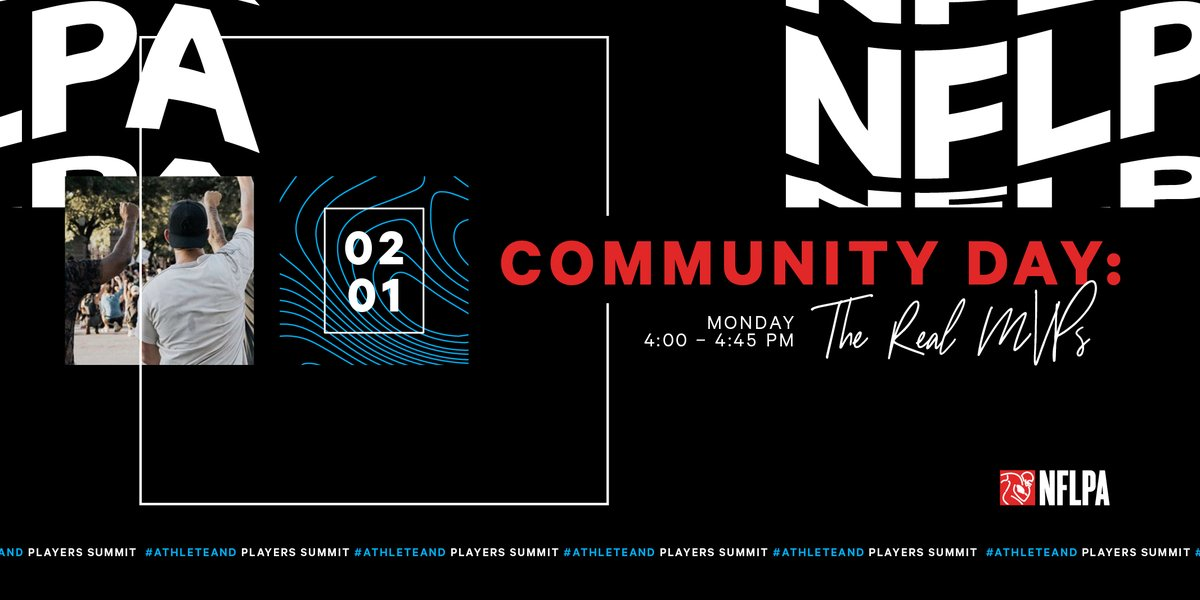 COMMUNITY DAY: 📅: Monday, Feb. 1 ⏰: 4pm ET  Featuring some of the finalists for the Alan Page Community Award & players who've taken on the challenges of 2020 and poured into their communities: @horribleharry99  @KB31_Era  @GenoSacks  @haydenrhurst  @bcope51