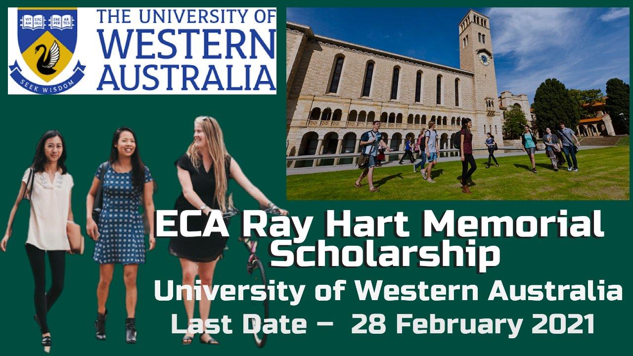 ECA Ray Hart Memorial Scholarship at The University of Western Australia