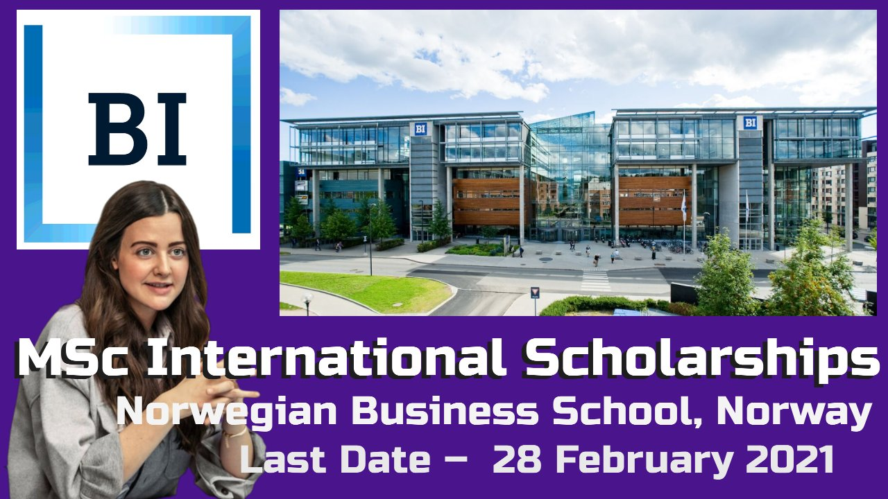 MSc International Scholarships at Norwegian Business School, Norway