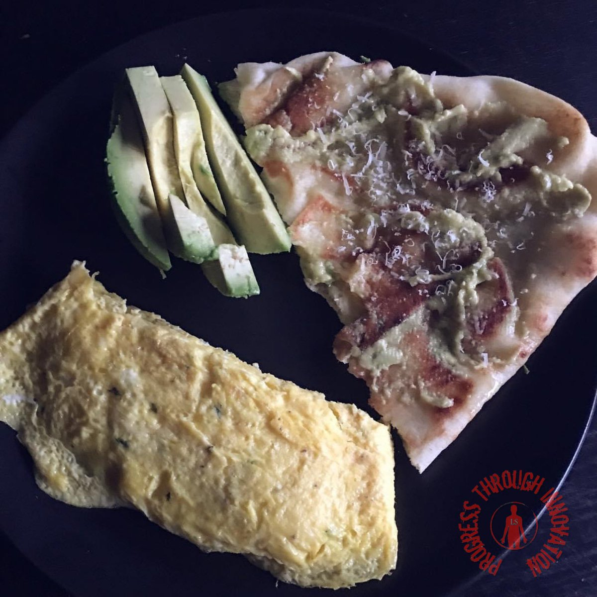 Breakfast idea. Omelette with avocado, naan, Parmesan cheese. Tasty, and quite good for you.  . #fitness #gym #food #lifestyle #progress #muscle #fitnesschef #nutrition #lioisystems #chef #cook #coaching #breakfast