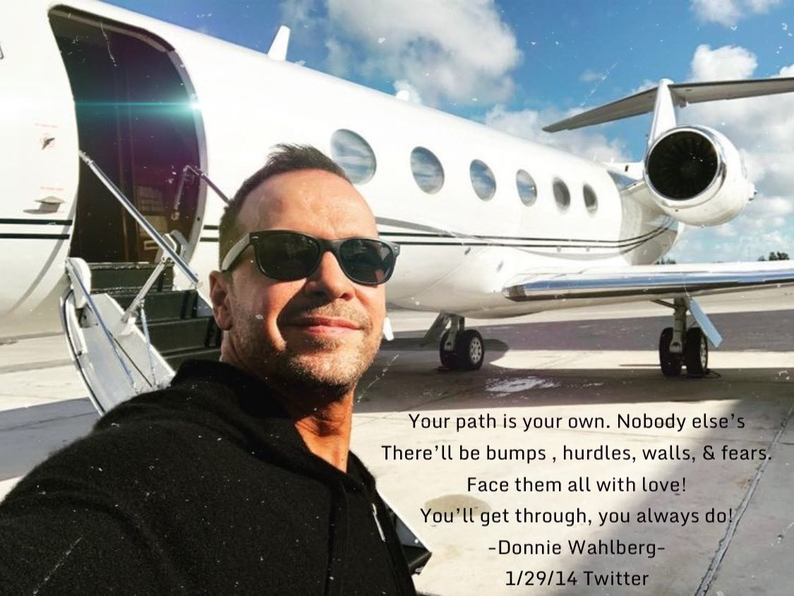 Your path is your own. Nobody else's. There'll be bumps hurdles walls & fears Face them all with love! You'll get through, you always do! @DonnieWahlberg Hope everyone had a great weekend! #MondayMotivation #WordsofWisdom