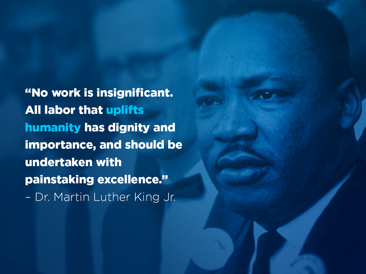 #MLKDay  provides an opportunity to celebrate the life, achievements and values by which Dr. King dedicated his life.  These values – including equality and compassion – are a key part of creating more equitable and inclusive communities and organizations.