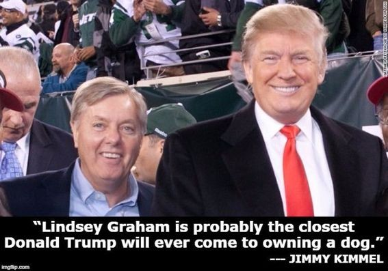 #LindseyGrahamIsATraitor And here is Jimmy Kimmel on Lindsey Graham :