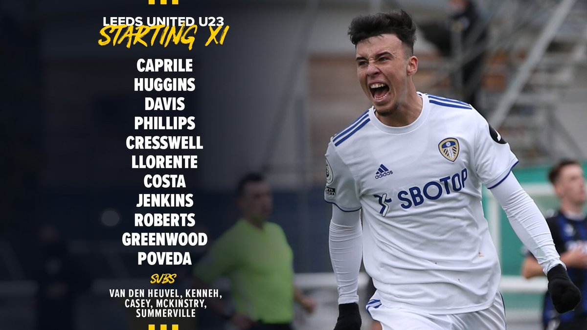 📋 First team stars Llorente, Phillips, Costa, Roberts and Poveda all start for Mark Jackson's side today