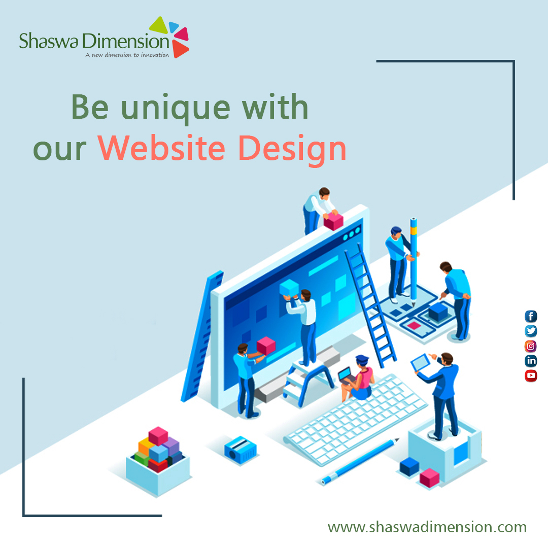 Your website design and development sets you apart from your competition. Shaswa Dimension builds the design that improves user engagement and sales. For More Info:  #digitalmarketing #seo #ppc #smo #smm #shaswadimension #onlinemarketing #Hyderabad