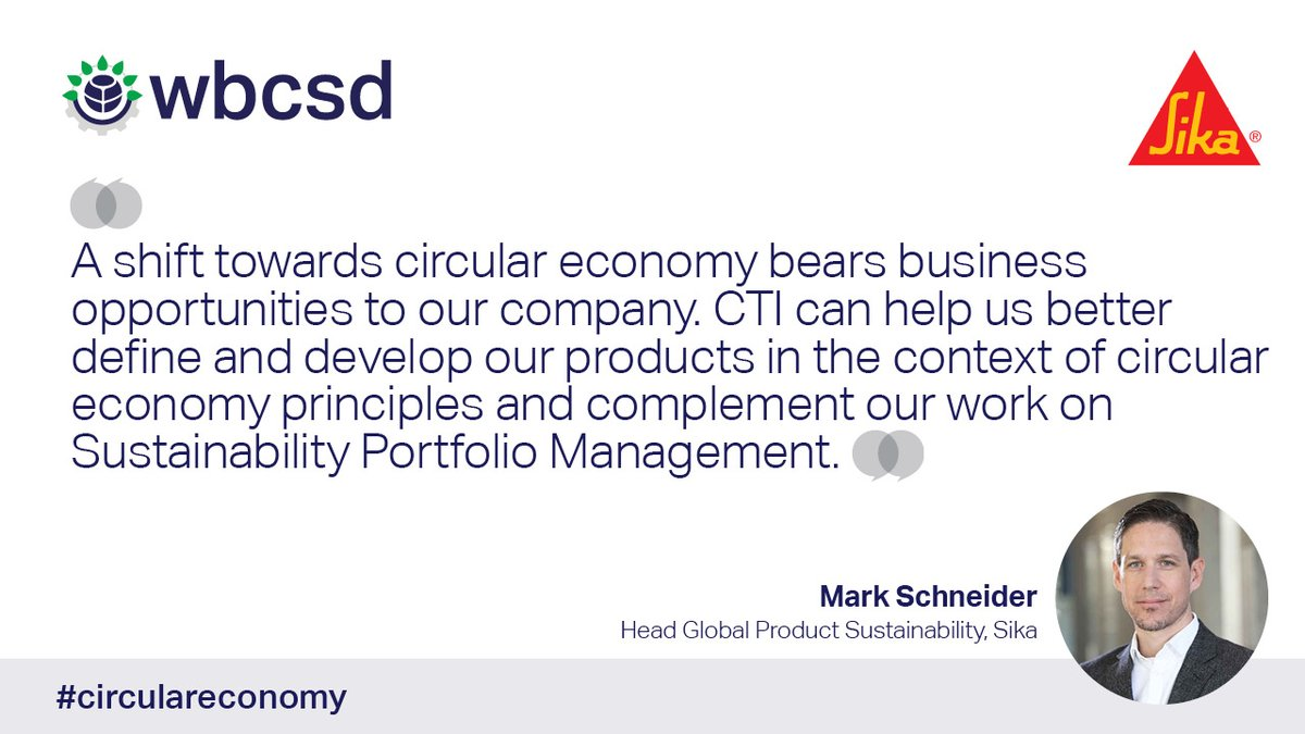 With the #circulareconomy growing in momentum, it's imperative for companies to prepare for their transition. @Sika have reported how they can better define & develop their products in the circular context w. CTI. Learn more about their experience  https://t.co/sIIXx9E3rW https://t.co/2Tt80PnRGF