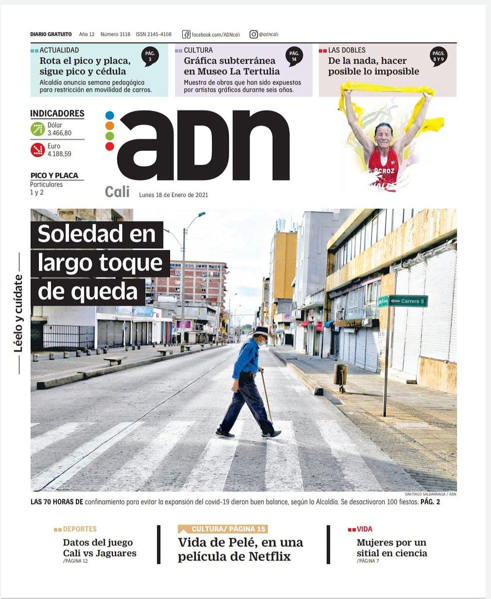 ¡Muy buenos dias! Te invitamos a leer nuestra edición de hoy, lunes 18 de enero. LéeloYCuídate #EsMiADN #AdnCali https://t.co/KezM9XAmXi https://t.co/W56W5kdywM
