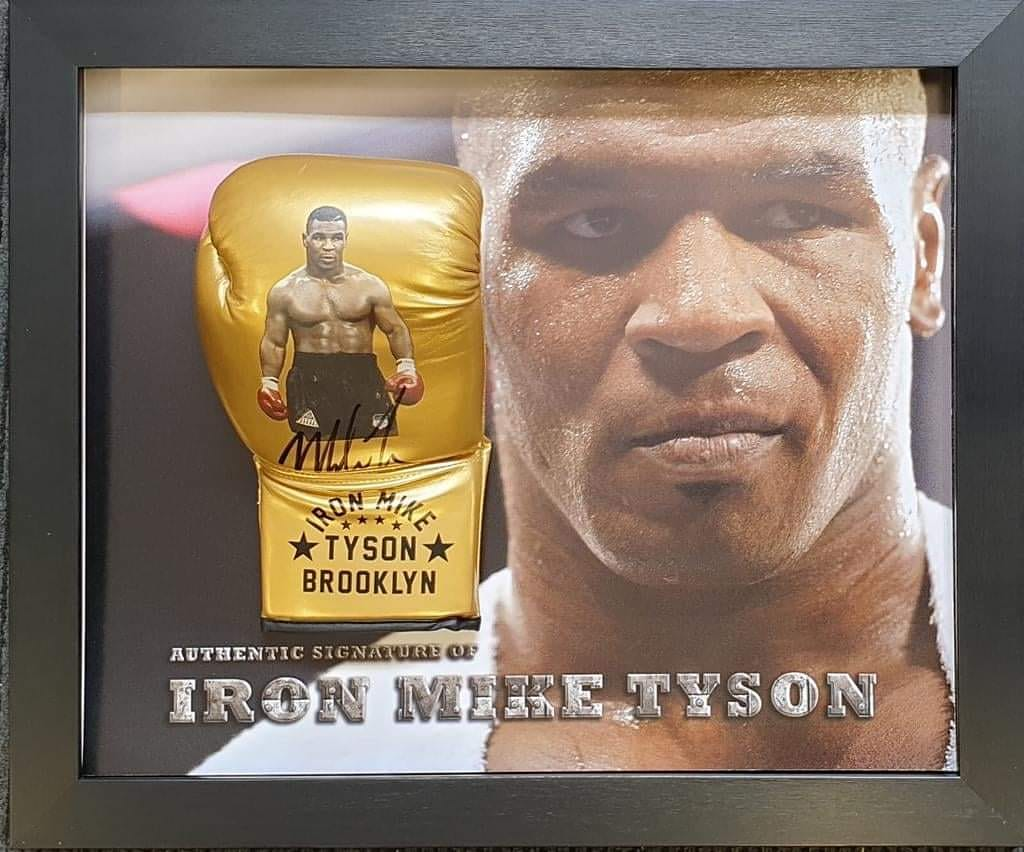 The baddest man on the planet!! 20% off our Mike Tyson signed glove in stock now.   #autographs #authenticautographs #authenticity #authentic #aftal #memorabilia #collectables #boxingmemorabilia #ironmike #tyson #boxinghistory   #supportlocalbusiness  #supportsmallbusiness