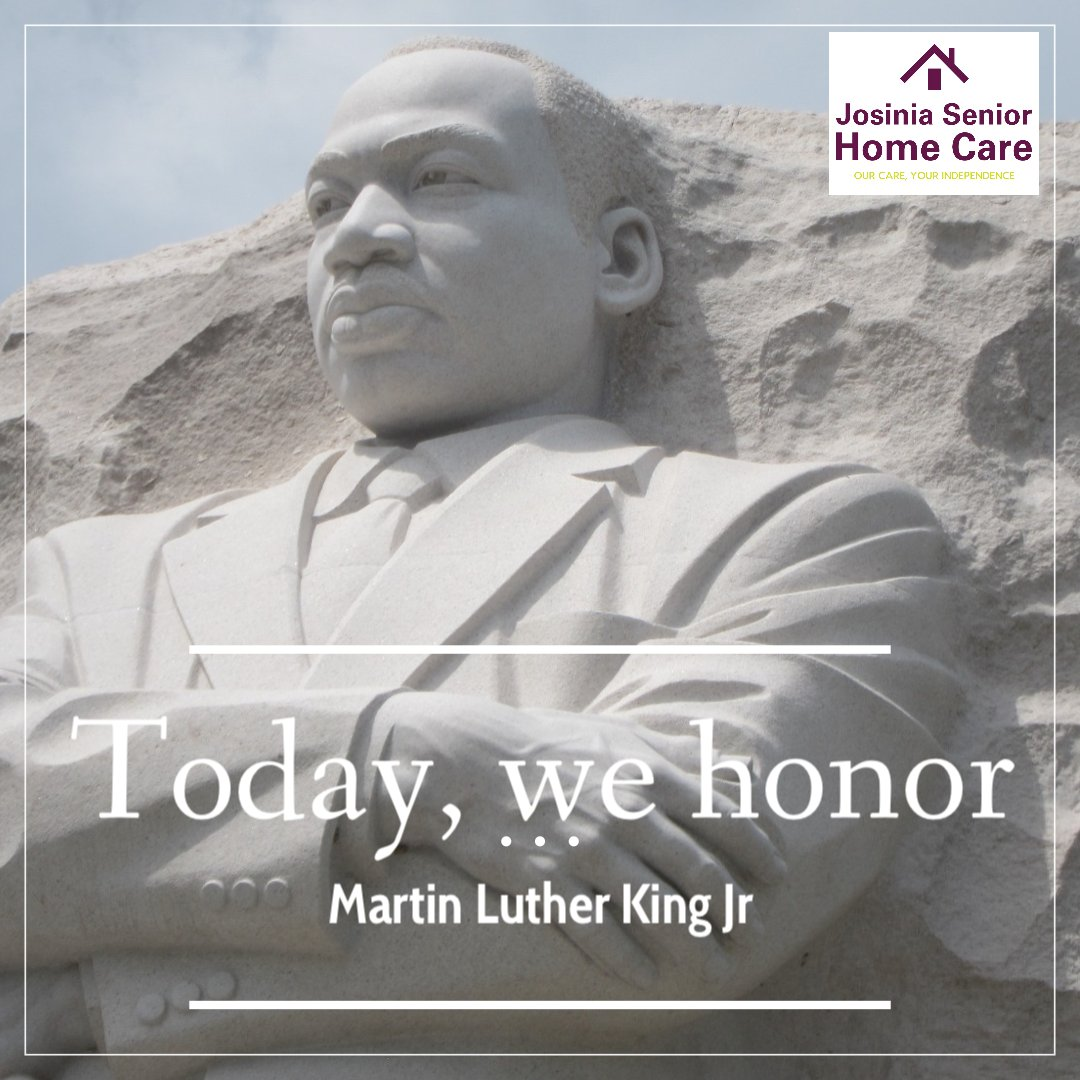 Celebrating the life and legacy of Dr. Martin Luther King Jr. ✝️ #martinlutherkingjr #mlk #mlkday2021 #nonviolence #peace #love  #civilrights #weshallovercome #josiniaseniorhomecare
