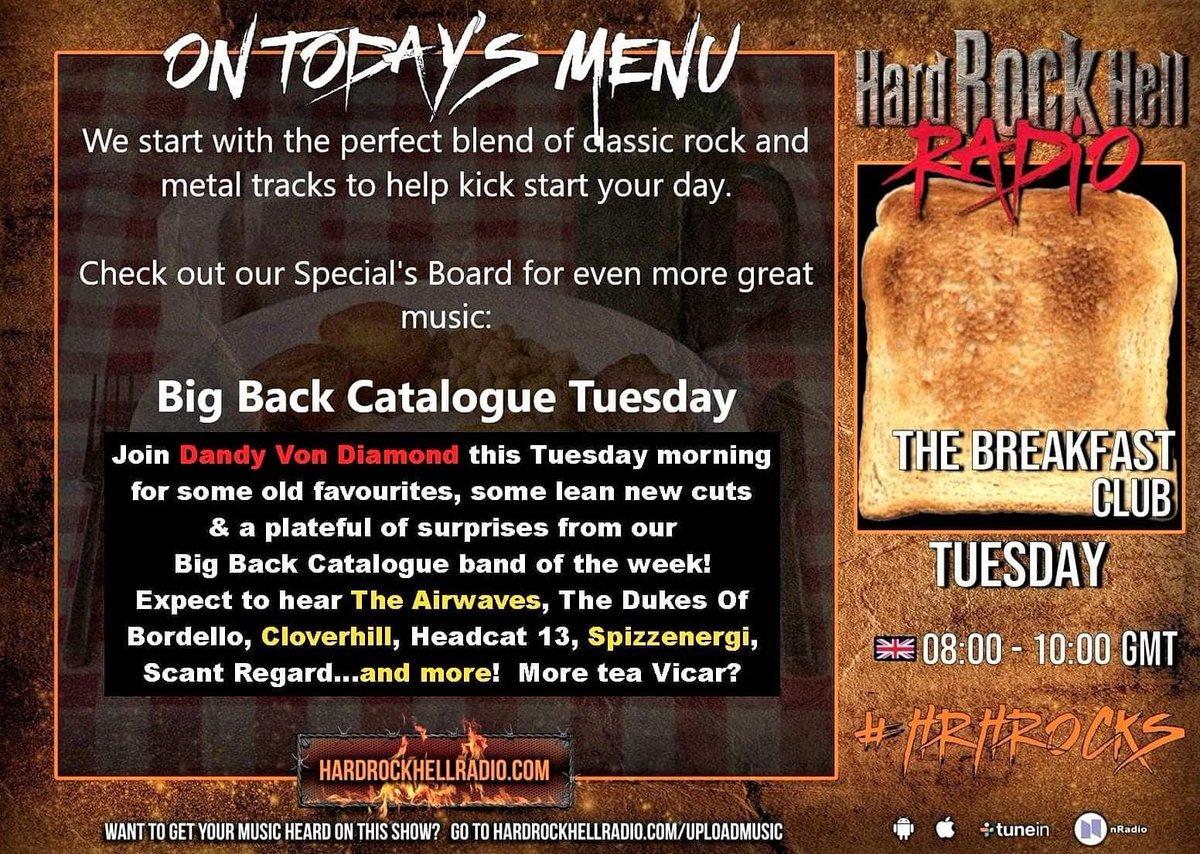 Any #earlybirds fancy a [#sociallydistanced] #cuppa with me tomorrow? I'm presenting the @radiohrh - #BreakfastClub from 8am & it would be lovely to have your company! ☕ #HRHRocks #BreakfastRadio #DJ #RadioDJ #RockDJ #HardRockHell #HardRock #ClassicRock #HeavyMetal #PunkRock