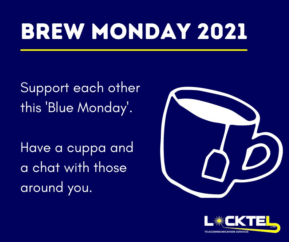 Today is thought to be the most depressing day of the year... We're encouraging you to have a #BrewMonday instead of a Blue Monday, by having a cuppa and a chat with those around you☕️  #BlueMonday #mentalhealthmatters #cuppa #mentalhealth