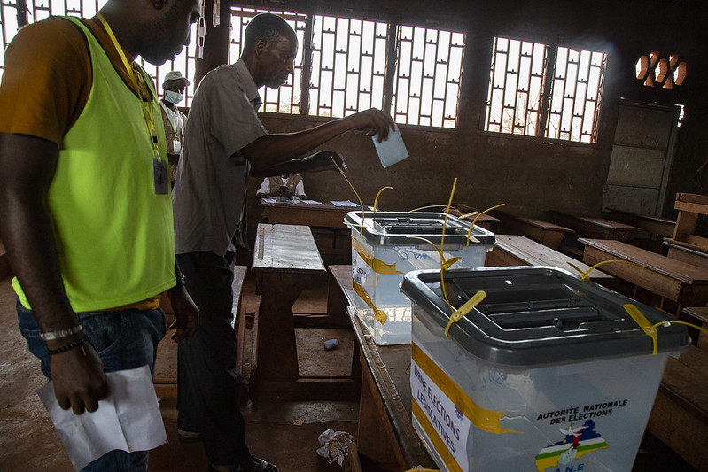 """""""With the proclamation of the final results of the presidential election of December 27 election results, this is a time of tension, and together with the #CAR authorities, we'd like to anticipate and address potential difficulties."""" -  #DSRSG Denise Brown."""