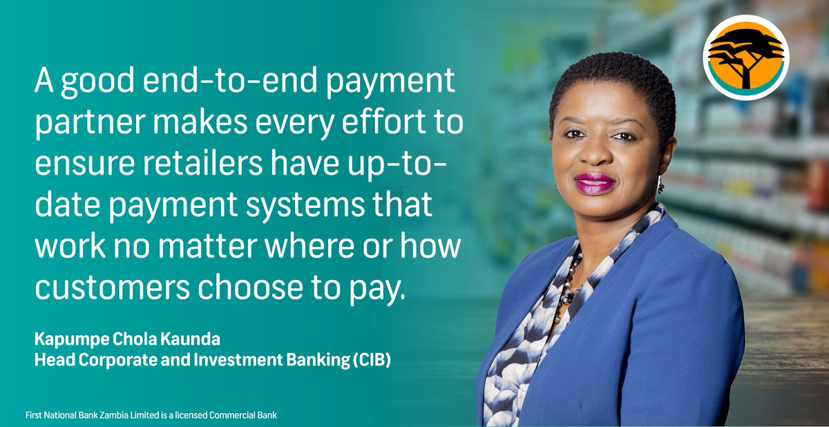Very few things change as rapidly as retail, except how consumers expect 'whatever-whenever-wherever' payment experiences. In this article, Head of Corporate & Investment Banking Kapumpe Chola Kaunda tells us more: https://t.co/JMeY8tToLg https://t.co/1Dn36LhRHJ