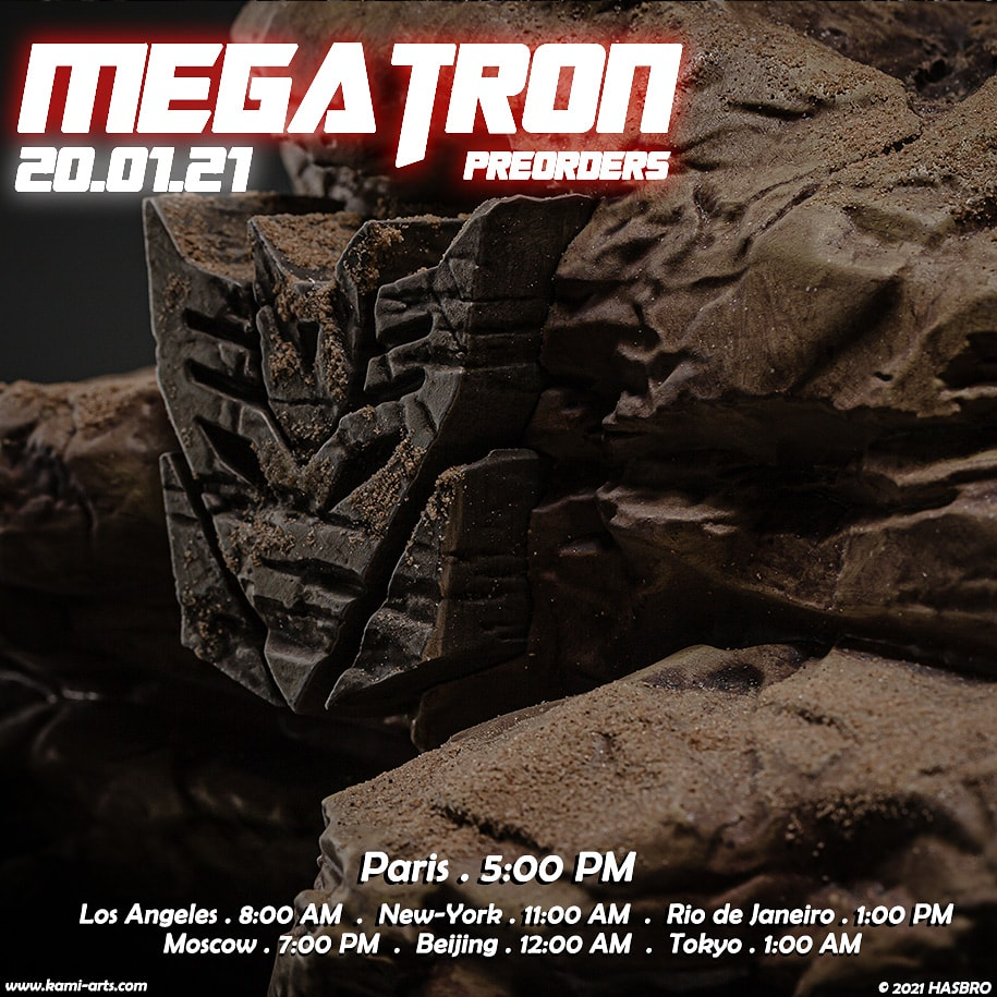 J-2 avant impact ! ALL HAIL MEGATRON #KAMIARTS #Megatron #Transformers #statue
