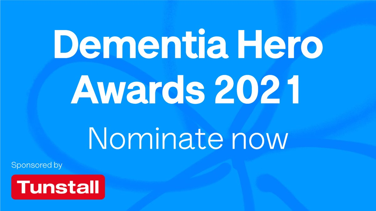 Exciting news - nominations are now open for our Dementia Hero Awards 2021! 🎉  The awards will showcase the stories of people doing outstanding things during the pandemic to support those affected by dementia. Find out more and nominate your heroes today!