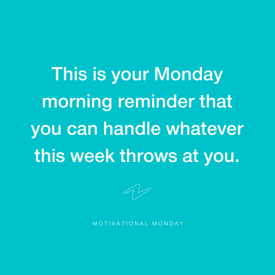 Happy Monday! We're all in this together and we'd love to use this opportunity to keep you entertained, challenge your minds and even get to know you all a little better! What better way to kickstart your week than this little reminder? You've got this!x