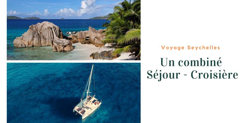 Combiné séjour et croisière, découvrez les Seychelles entre terre et mer.     #aucoeurduvoyage #plage #croisiere #sejour #seychelles #mahé #beauvallon #ilecoco #ilecurieuse