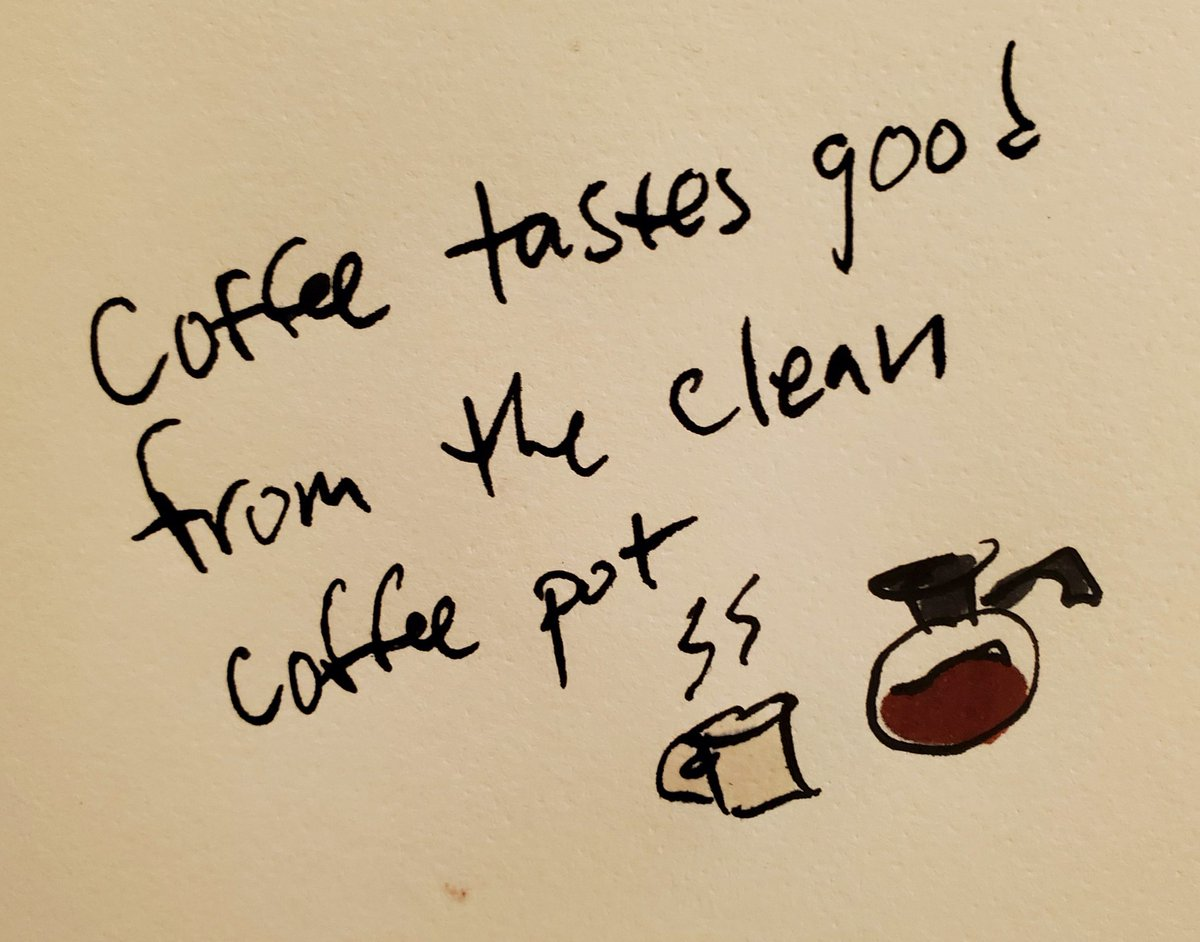 Coffee tastes good From the clean  Coffee pot...  Its the little things lol 😆 #coffee #coffeebreak #coffeetime