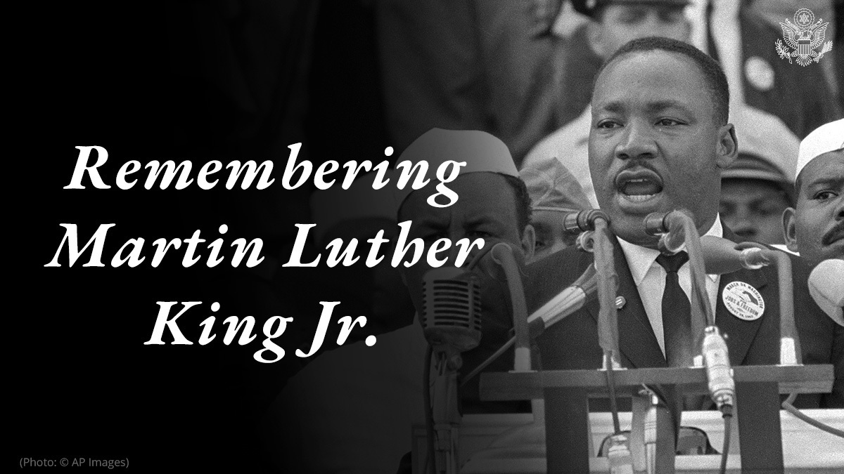 This #MLKDay, we honor Reverend Dr. Martin Luther King, Jr.'s historic work in advancing the Civil Rights Movement. I hope all Americans take a moment today to reflect and recommit to the principles of social justice and equality, and honor Dr. King's legacy through service.