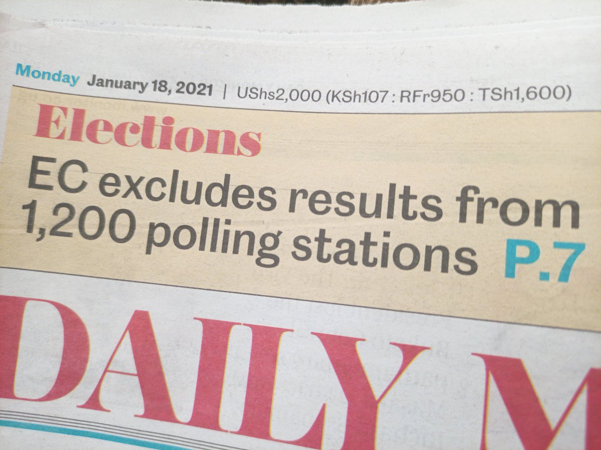 The candidate who was declared winner had obtained more than 50% of the valid votes cast. The EC considered the fact that the difference in votes obtained by the leading candidate and the first runner up would not be overturned by votes from the remaining 1,223 polling stations.