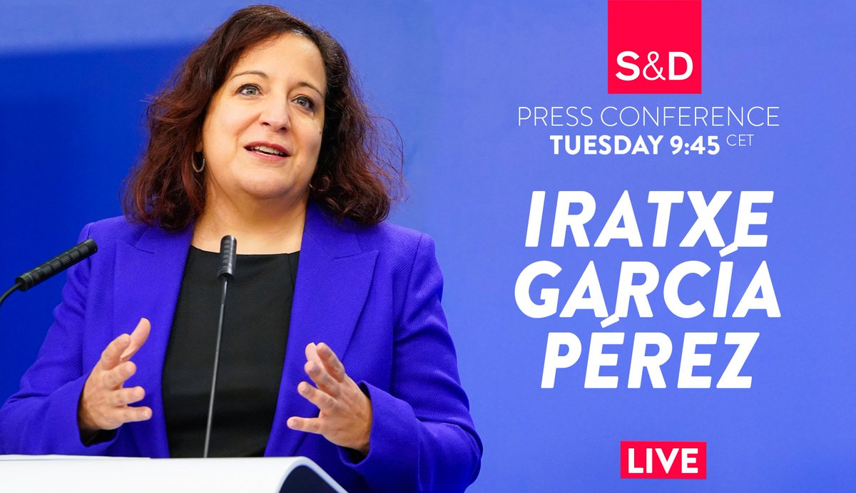 For all S&D priorities for this first #Eplenary of the year, don't miss @IratxeGarper's press conference tomorrow at 9h45 CET ⏰  You can follow it live on our feed via #Periscope https://t.co/VpgSbyJZd8