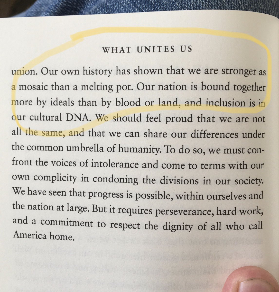 I found these words from @DanRather & Elliot Kirschner, from their book #WhatUnitesUs, particularly pointent this morning: