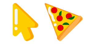 Tasty big pizza is a popular traditional Italian dish, which has the main ingredient is cheese. #CustomCursor #Cursor #pointer #Food #Yellow #Pizza #StarterCursors #Minimal #Simple #MinimalCursors