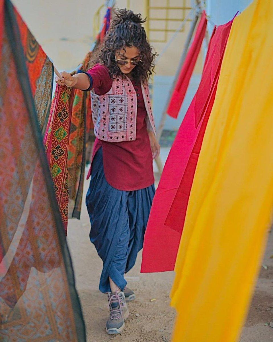 Monday Inspiration: Colourful Vibes 🌈 #RashmiRocket  @MrAkvarious @taapsee @RonnieScrewvala