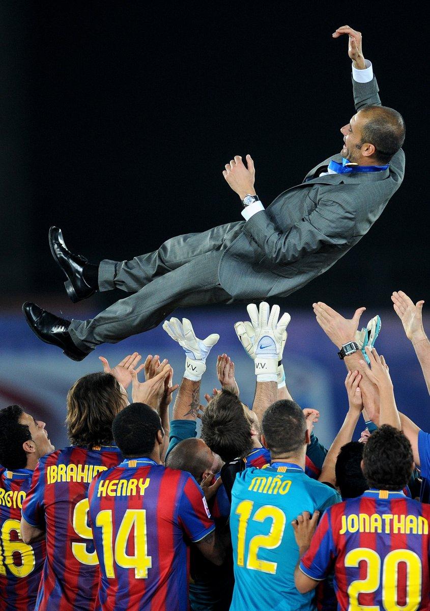 🎂 Joyeux Anniversaire à l'entraîneur le plus titré de l'histoire de la #ClubWC 🏆  🌍 Pep Guardiola a remporté 2 fois le trophée avec @FCBarcelona et une fois avec @FCBayernEN   L'entraîneur espagnol fête ses 5⃣0⃣ ans ! 🎉