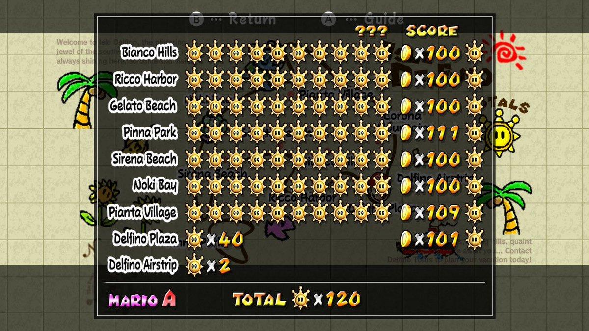18 años pasaron y por fin pude terminarte al 100%   :,) #SuperMario3DAllStars #NintendoSwitch #SuperMarioSunshine