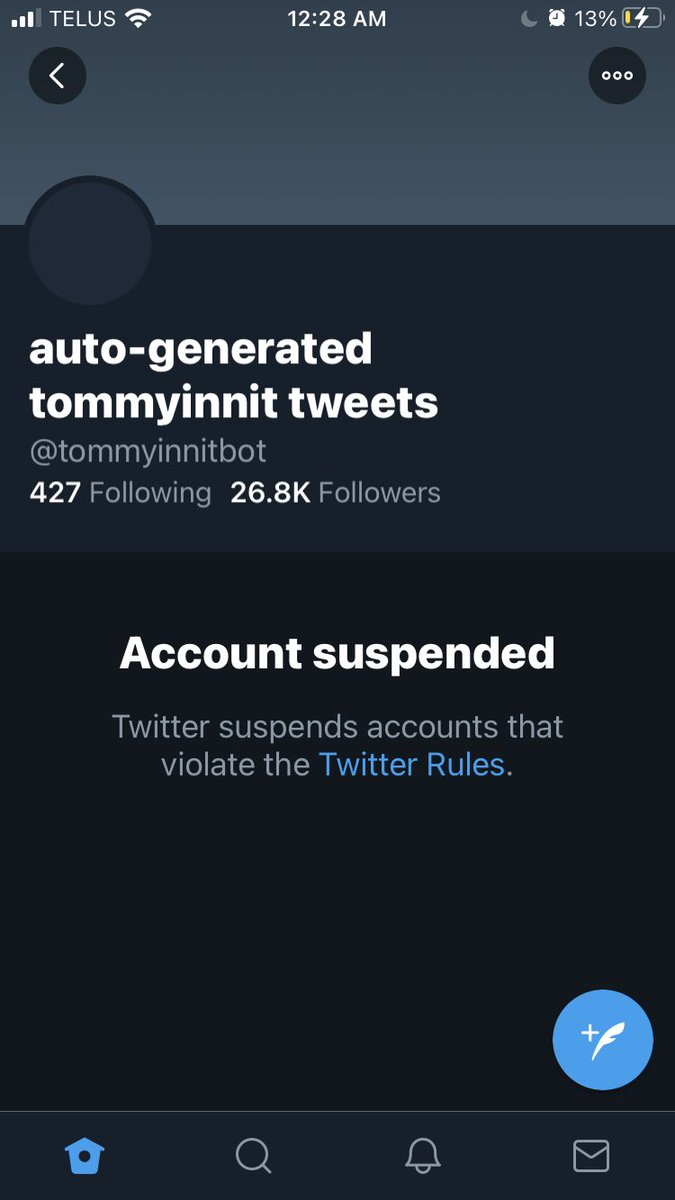 #freetommybot THE HOMIE DID NOTHIN MAN 💔
