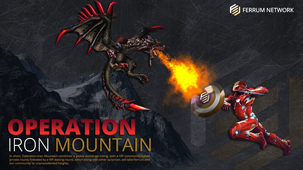 #IronMountain #DeFi #Staking @FerrumNetwork  Operation Mountain by Ferrum Network will be a Game Changer in Crypto Universe!