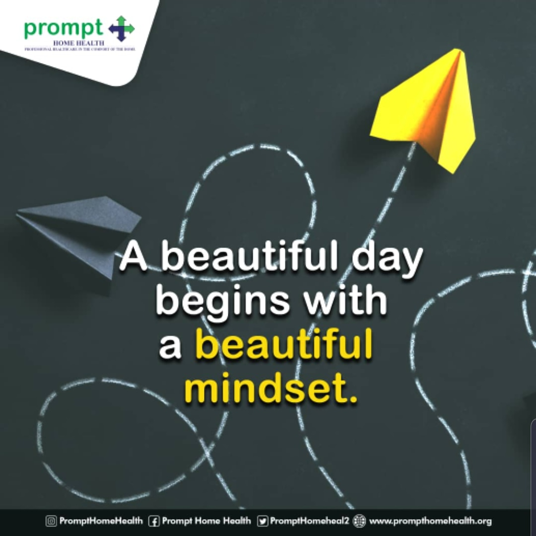 Good morning Family, hope you had a lovely weekend.  We're starting this new week and beautiful day with a little dose of positivity.  Have a great week😘❤💚  #newweek #newweeknewgoals #MondayMotivation #positivemindset #prompthomehealth