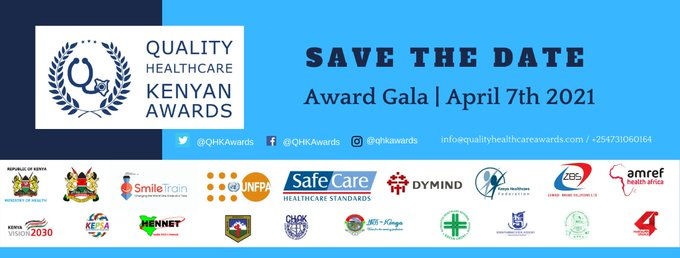 Good News: Winners of the 2nd @QHKAwards will be announced and celebrated on April 7th, 2021 during the #WorldHealthDay. #QHKAwards  @MOH_Kenya @SmileTrainAfric @UNFPAKen @PharmAccessKE @DymindBiotech