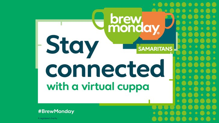 It's #BrewMonday ☕️ with @samaritans. Reach out to a colleague or friend for a virtual cuppa and a chat. It doesn't have to have to be a Monday, just taking time to really listen to another person could help them work through what's on their mind. 💚