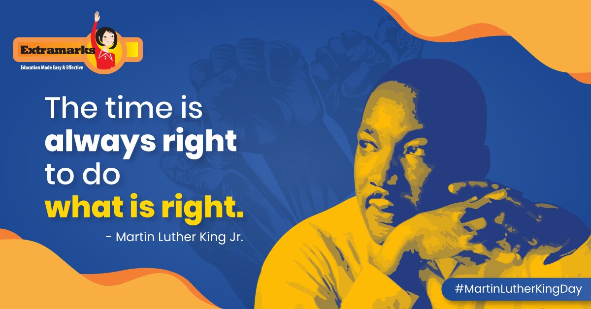 Inaction itself is an action. Taking the first step in the right direction is crucial to reaching your destination.  Let's get going!   #Extramarks #MondayMotivation #MartinLutherKingJrDay #MartinLutherKingJr https://t.co/qlkf63KHuP