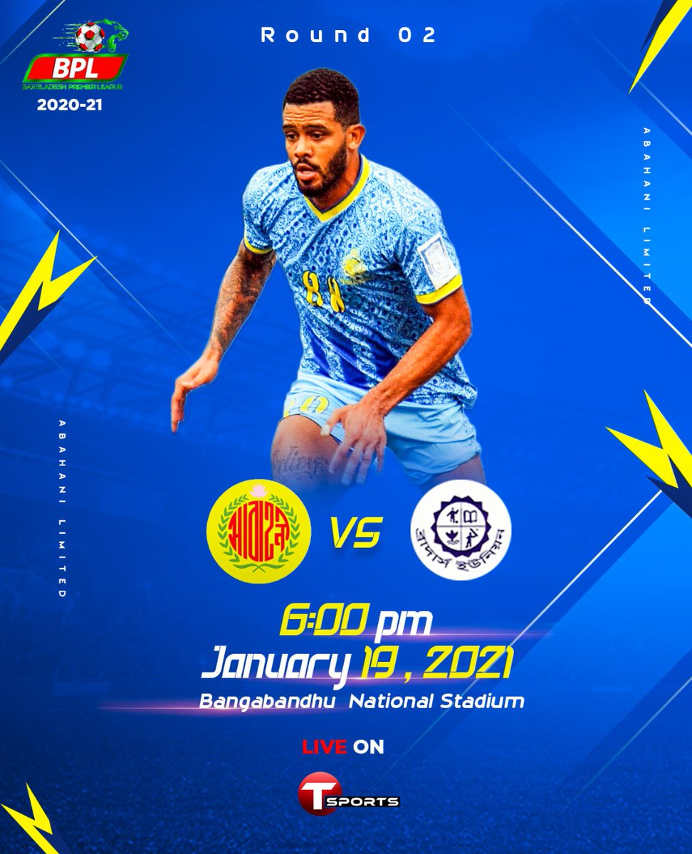 📌 Round 02 🏆 Bangladesh Premier League  🆚️ Brothers Union  🕙 6:00 PM 📺 T Sports  📍 Bangabandhu National Stadium https://t.co/zxWhgdcoCJ