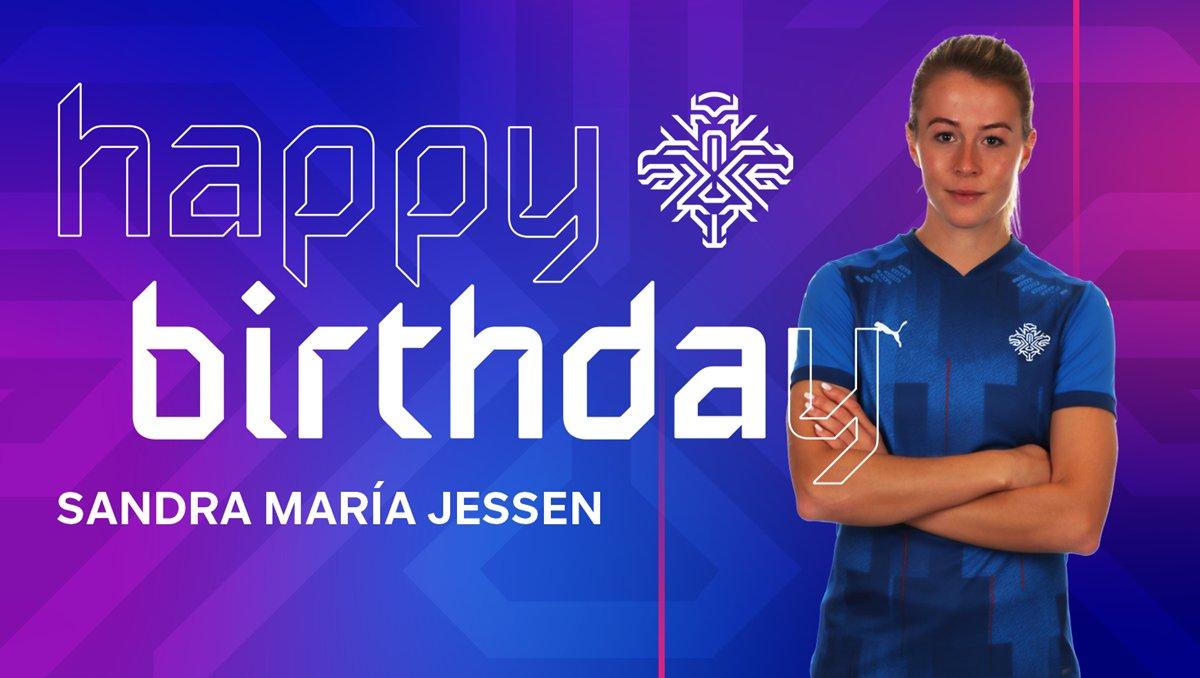 Sandra María Jessen fagnar 26 ára afmæli sínu í dag!   Til hamingju með daginn Sandra!  Happy 26th birthday to Sandra María!  #LeiðinTilEnglands #dottir