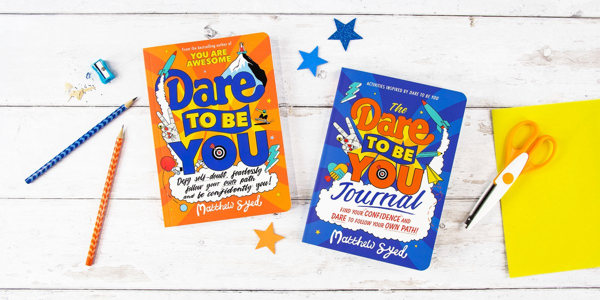 Why be 'normal' when you can be curious, kind and confidently YOU?!  #DaretoBeYou and the complementary interactive #Journal by @matthewsyedhelp kids learn to defy self-doubt, follow their own path & love what makes them different 🌟  Out now!