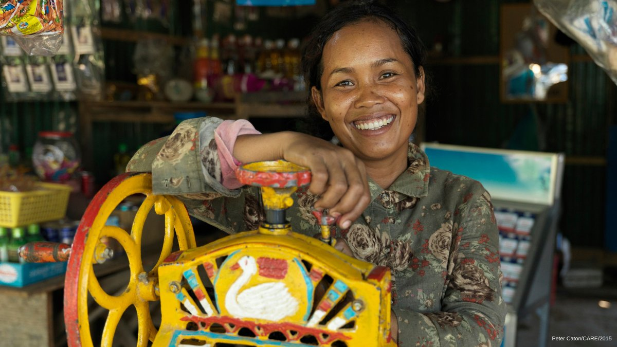 This is Soeurng Rina. She runs a small shop in Battambang, Cambodia and earns around $25 per day to support her family. This #BlueMonday we hope that her beautiful smile brightens your day!