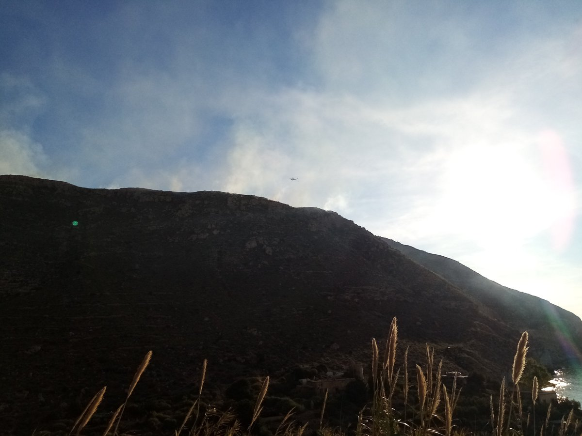 Fire up from cala San Pedro #CabodeGata