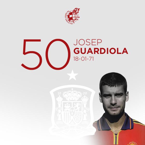 🎂 ¡¡Feliz cumpleaños a Pep Guardiola!!  🥇 Medalla de oro en los @juegosolimpicos de #Barcelona92 e internacional con España en 47 partidos cumple 50 años.  🥳 ¡¡MUCHAS FELICIDADES!!