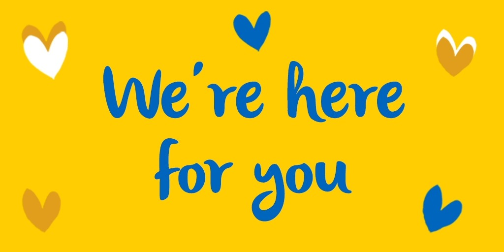 Whatever day it is, whenever you need us, we're here:  #BlueMonday