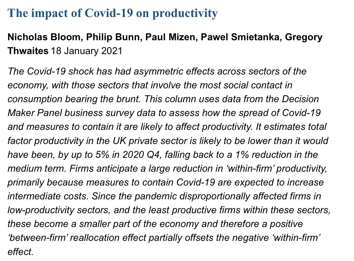 Covid and UK productivity. It's complicated.