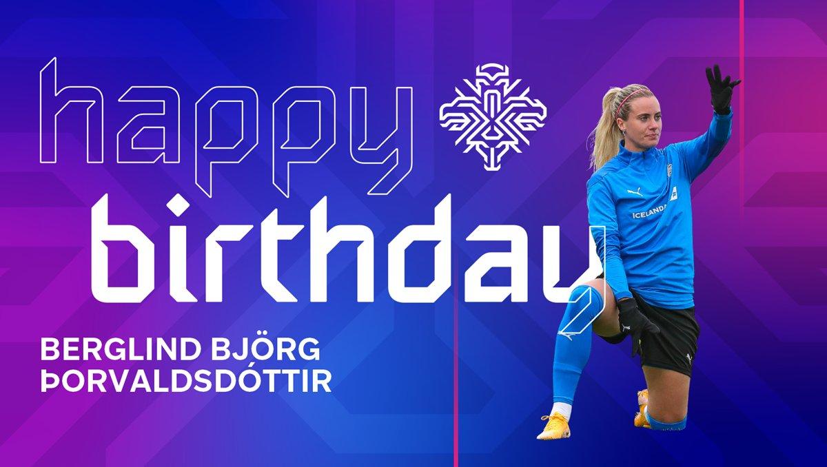 🎉  Til hamingju með 29 ára afmælið Berglind Björg!  🎁  Happy 29th birthday to Berglind Björg Þorvaldsdóttir!  #LeiðinTilEnglands #dottir