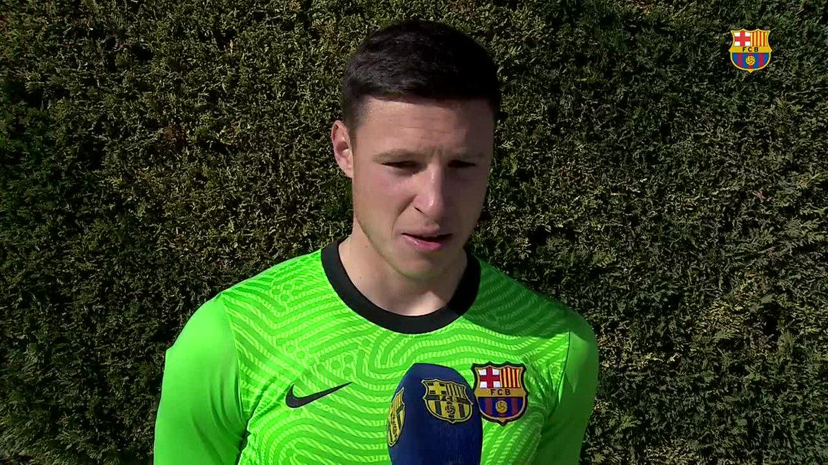 🎥 Les declaracions dels protagonistes de la victòria del Juvenil A davant l'Europa (5-0)  💥 Ramon Vila va aturar un penal i Diego López va fer un doblet   #ForçaBarça 💙❤️